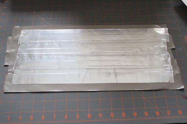 making a siver duct tape sheet