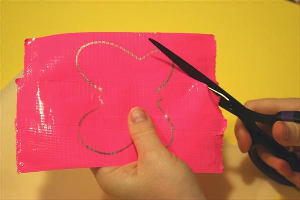 cutting out the butterfly pattern
