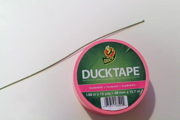 materil for duct tape dandelions