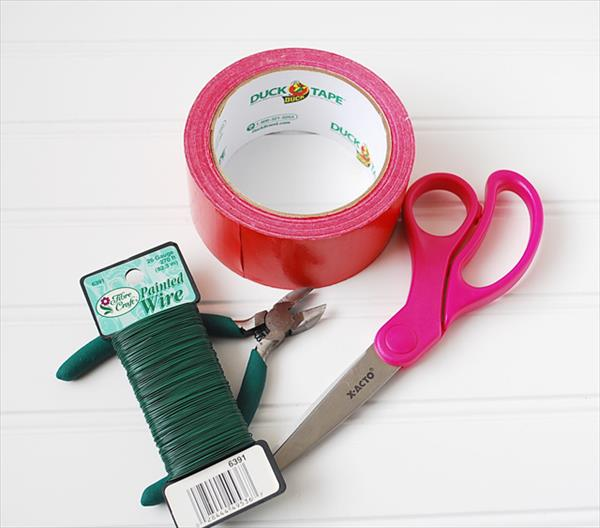 material for duct tape flower