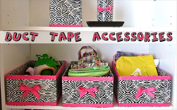 diy duct tape accessories boxes