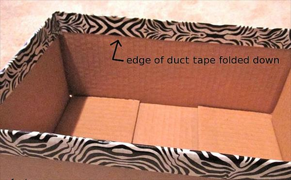 cover the shipping boxes with duct tape