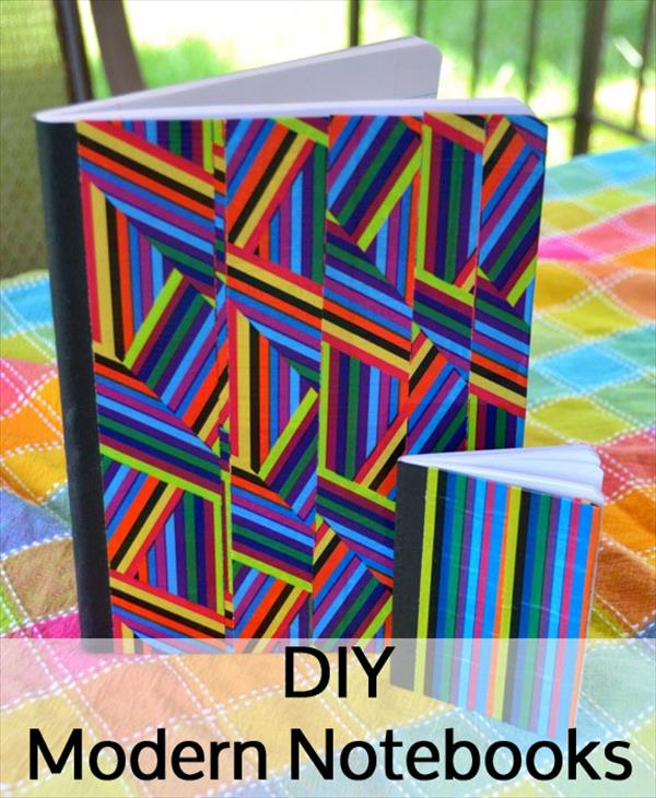 handcrafted duct tape notebooks