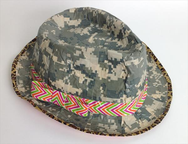 diy handmade duct tape hat