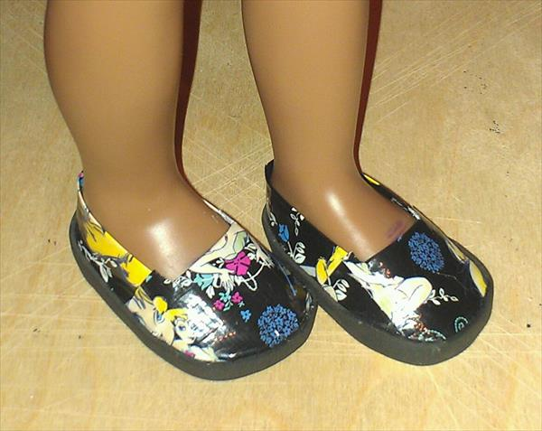 reclaimed duct tape shoes