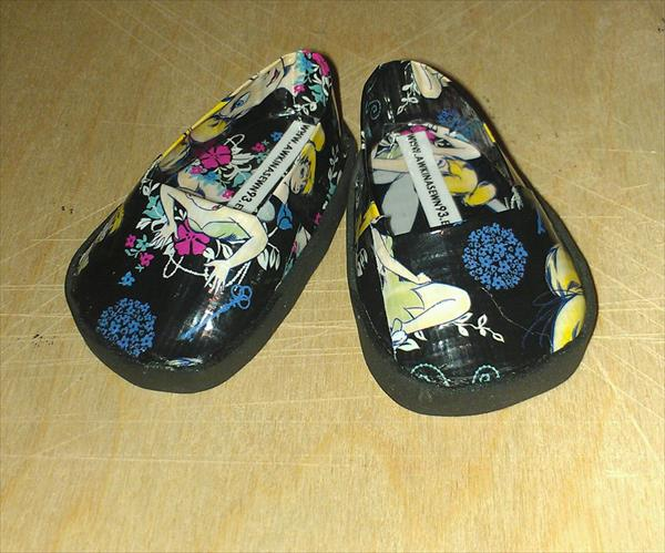 repurposed duct tape shoes