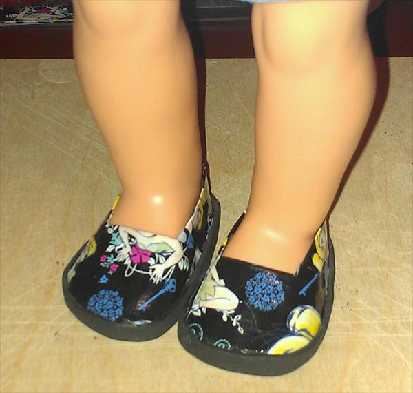 handcrafted duct tape kids shoes