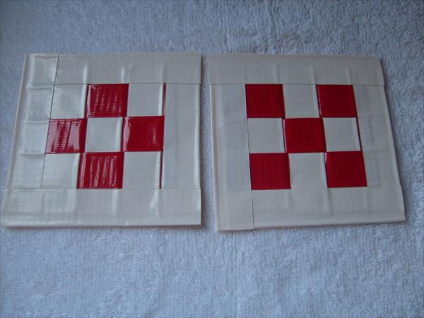 handcrafted duct tape coasters