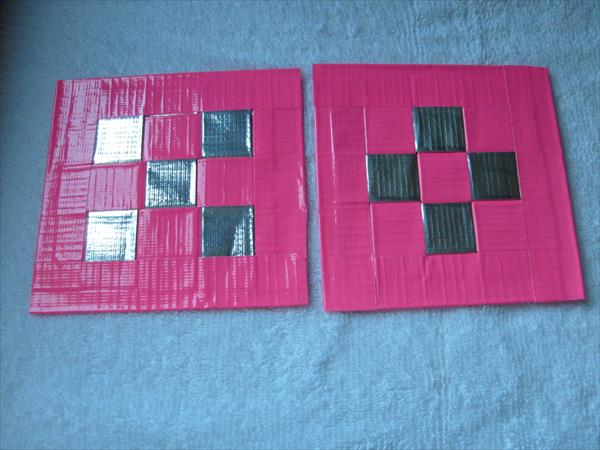 repurposed duct tape coasters