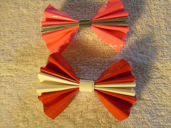 colorful duct tape hair barrettes