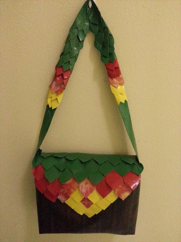 handmade duct tape purse