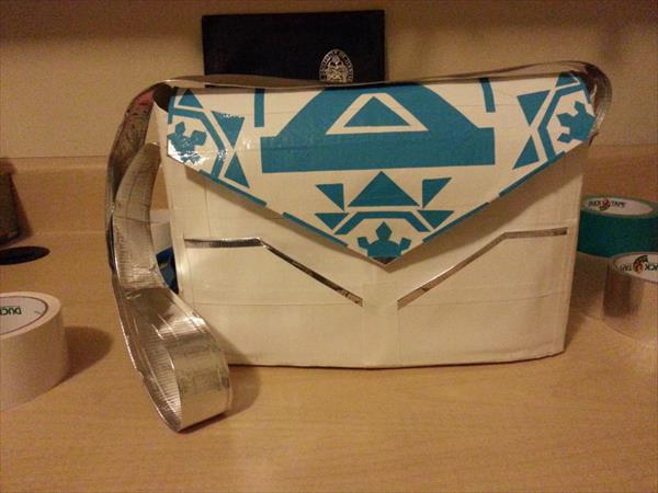 upcycled duct tape purse