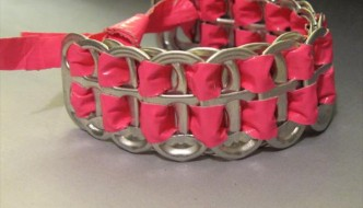 DIY Duct Tape Soda Can Tab Bracelet