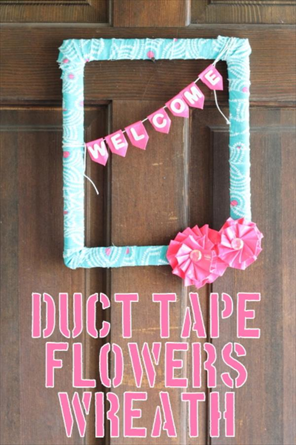 Diy Tutorial Duct Tape Flower Wreath 101 Duct Tape Crafts