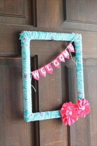 flower wreath out fo duct tape