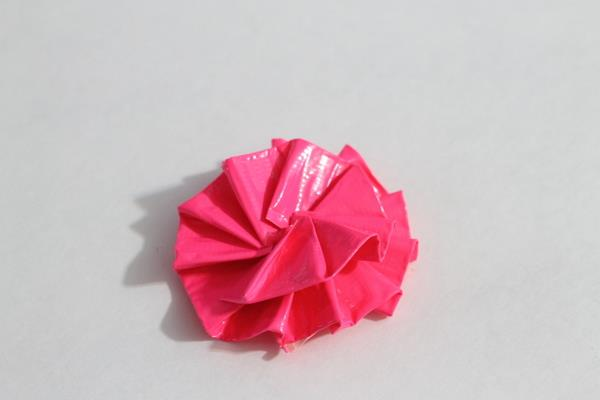 handmade duct tape flower