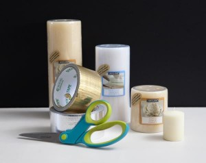 supplies for metallic textured candles