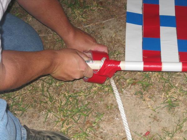 fastening of heavy duty rope