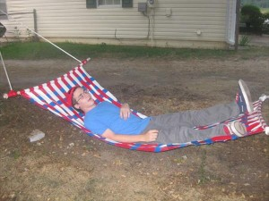 diy handmade duct tape hammock