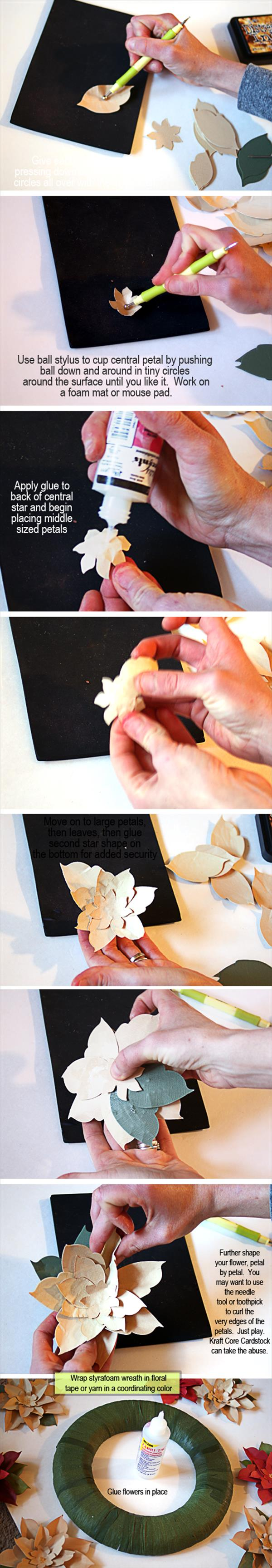 diy duct tape poinsettia gift topper instructions