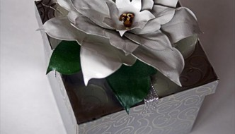 DIY Duct Tape Poinsettia Flower Gift Topper